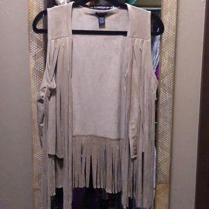 Jackets & Blazers - Fringe vest